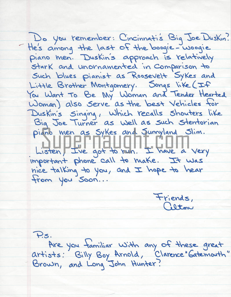 Alton Coleman Debra Brown Serial Killer Couple Prison Letter Signed