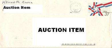 Kenneth Como envelope signed Manson Family - Supernaught True Crime Collectibles