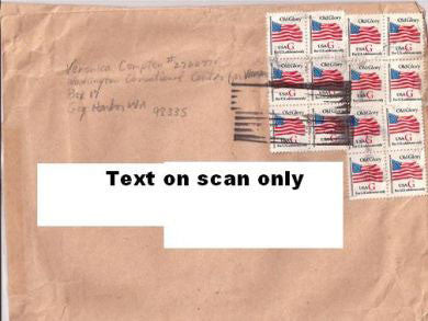 Veronica Compton prison envelope signed - Supernaught True Crime Collectibles