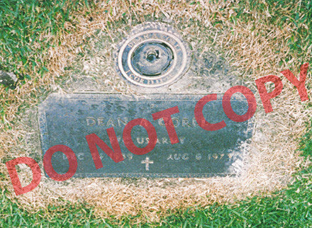 Dean Corll photo of his grave - Supernaught True Crime Collectibles
