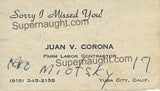 Juan Corona Business Card