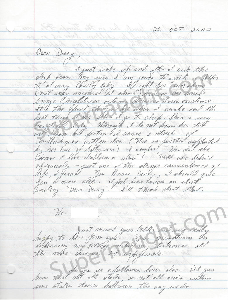 Richard Cottingham Four Page Letter and Envelope Set Both Signed