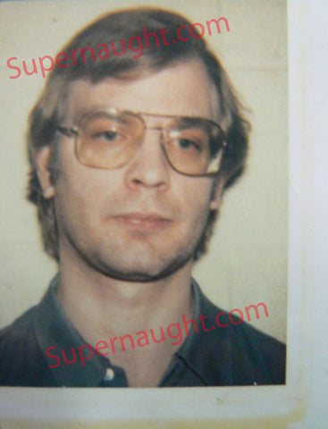 Jeffrey Dahmer Original Booking Polaroid 1991 County Jail - Supernaught True Crime Collectibles - 1