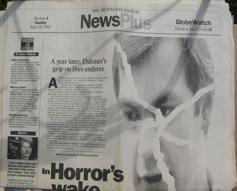 Jeffrey Dahmer grip on lives endures 1992 Milwaukee Journal - Supernaught True Crime Collectibles
