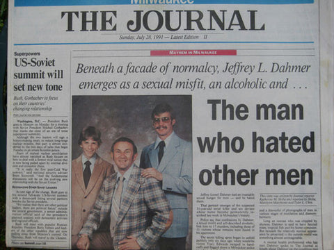 Jeffrey Dahmer Man Who Hated Other Men Milwaukee Journal July 1991 - Supernaught True Crime Collectibles