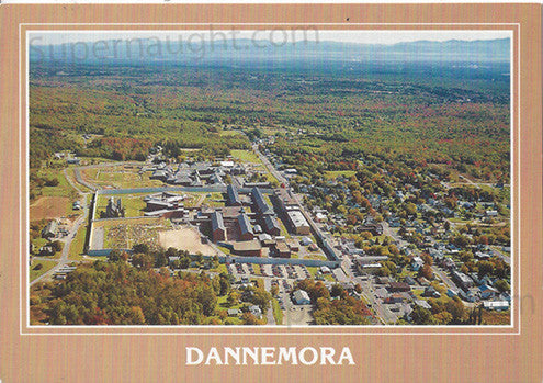 Dannemora clinton correctional postcard - Supernaught True Crime Collectibles