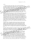 James Daveggio letter and artwork signed with envelope - Supernaught True Crime Collectibles - 1