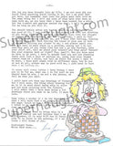 James Daveggio letter and artwork signed with envelope - Supernaught True Crime Collectibles - 2