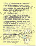 James Daveggio letter and envelope set with artwork both signed - Supernaught True Crime Collectibles - 3