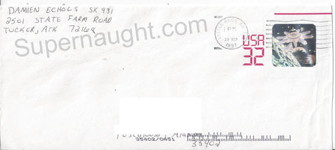 Damien Echols prison mailed envelope signed Damien Echols - Supernaught True Crime Collectibles