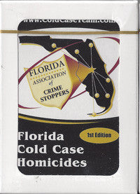 Florida cold case homicides playing cards 1st  edition new - Supernaught True Crime Collectibles