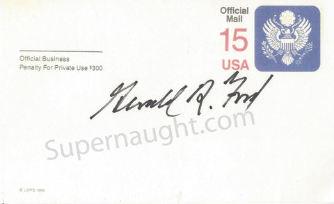 Gerald Ford 38th President Signed Card