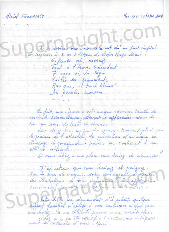 Michel Fourniret two page letter signed - Supernaught True Crime Collectibles - 1