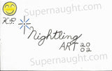 Kendall Francois Halloween card artwork signed - Supernaught True Crime Collectibles - 2