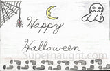 Kendall Francois Halloween Card Artwork Signed - Supernaught True Crime Collectibles - 3