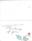 Kendall Francois handmade greeting card signed - Supernaught True Crime Collectibles - 2