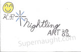 Kendall Francois handmade greeting card signed - Supernaught True Crime Collectibles - 3