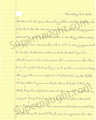 Joseph Paul Franklin Two Page Letter and Envelope Set Both Signed Executed - Supernaught True Crime Collectibles - 1