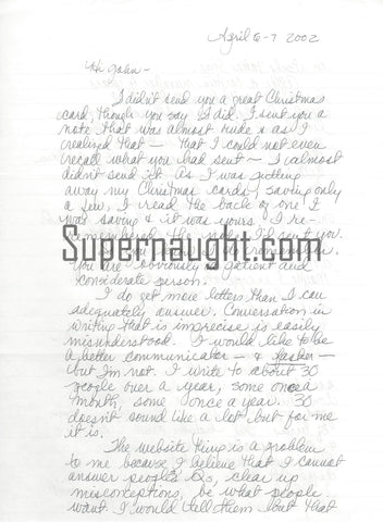Lynette Fromme Four Page Prison Letter Signed