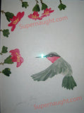 John Wayne Gacy set of three hummingbird paintings each signed twice - Supernaught True Crime Collectibles - 3