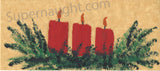 Vintage Christmas card painted by John Wayne Gacy on death row signed
