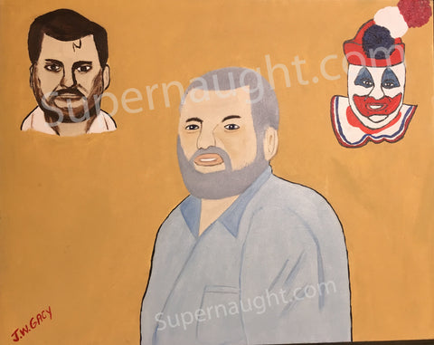 John Wayne Gacy The Man Oil Painting Signed Twice