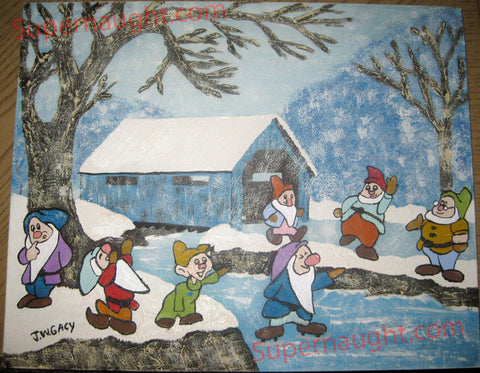 John Wayne Gacy hi ho in the winter signed oil painting