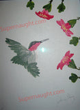 John Wayne Gacy set of three hummingbird paintings each signed twice - Supernaught True Crime Collectibles - 2
