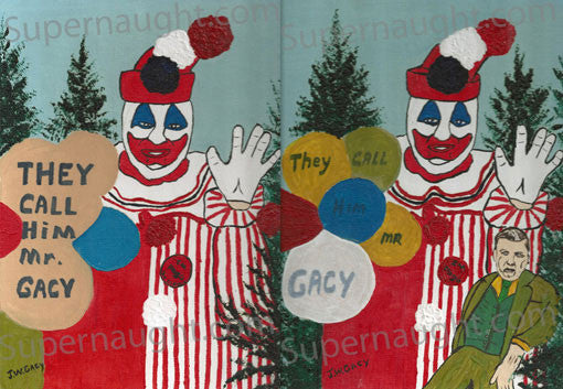 John Wayne Gacy They Call Him Mr Gacy Manuscript and Two Oil Paintings - Supernaught True Crime Collectibles - 1
