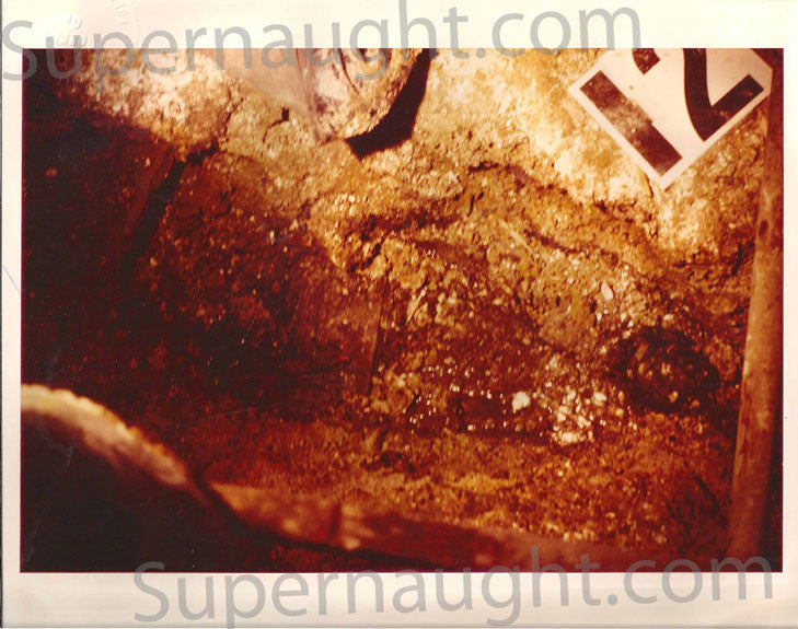 John Wayne Gacy Trial Exhibit Crime Scene Crawlspace Photo - Supernaught True Crime Collectibles