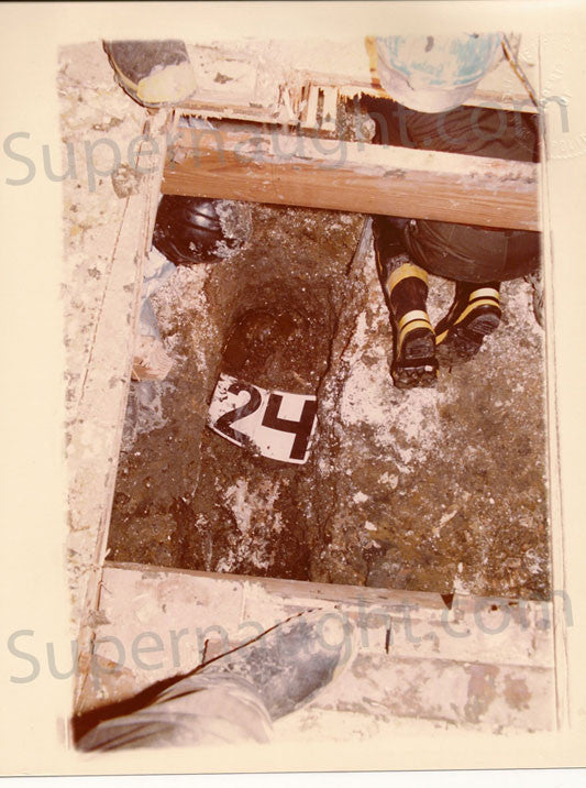 John Wayne Gacy crime scene crawlspace body 24 photo trial exhibit