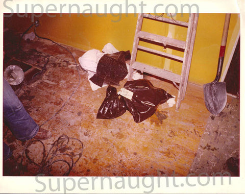 John Wayne Gacy original trial exhibit crime scene photo - Supernaught True Crime Collectibles