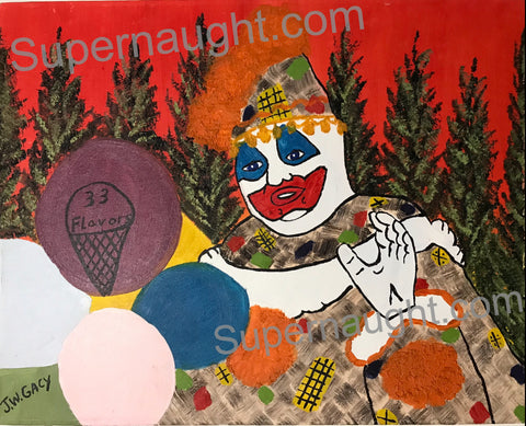 John Wayne Gacy Patches the Clown Painting