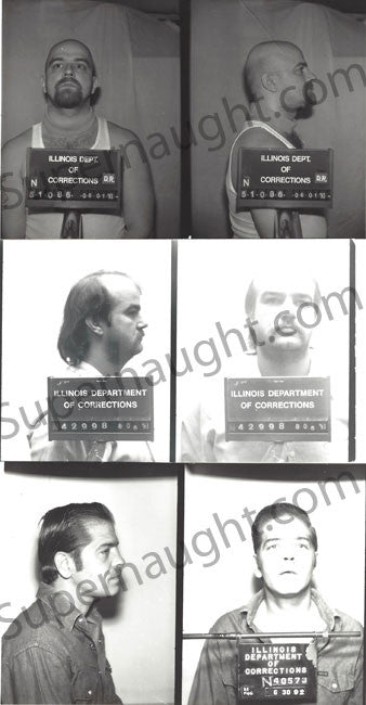 Robin Gecht Andrew and Thomas Kokoraleis Original Mugshots - Supernaught True Crime Collectibles