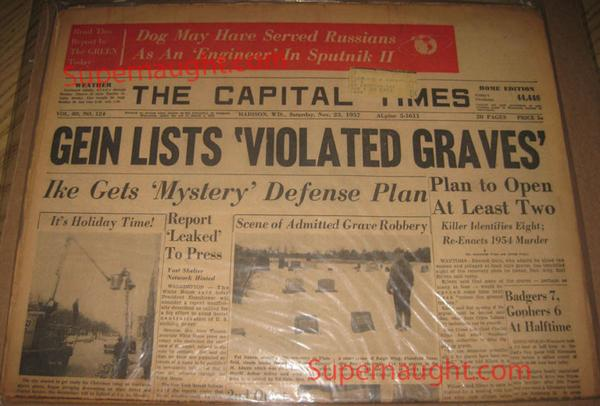 Edward Gein Newspaper November 23, 1957