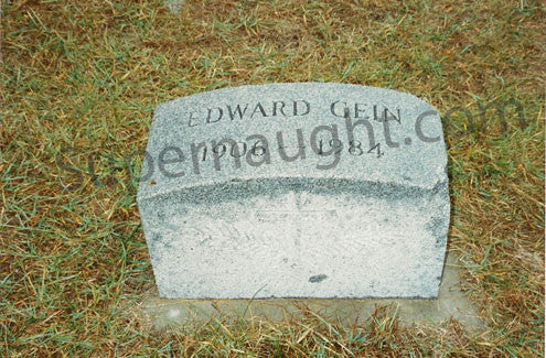 Ed Gein Plainfield WI Cemetery Gravestone Photo - Supernaught True Crime Collectibles