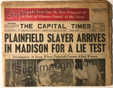 Edward Gein Capital Times Newspaper November 1957