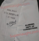 Bobby Ray Gilbert Signed Prison Issued Pants - Supernaught True Crime Collectibles - 4