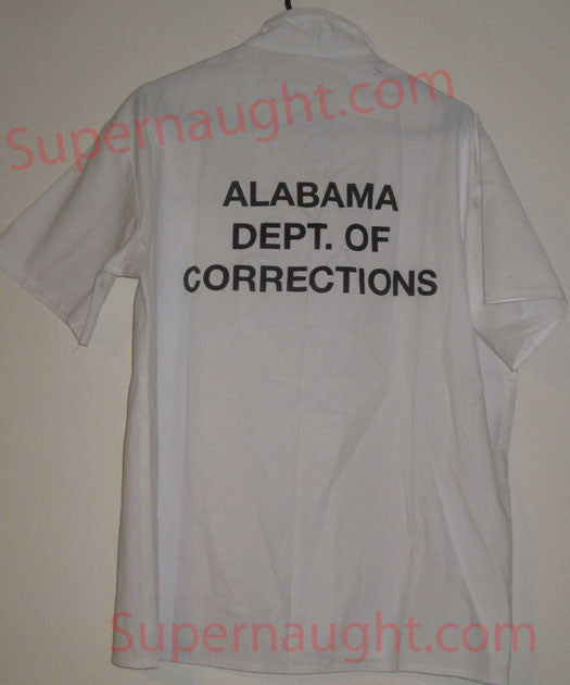 Bobby Ray Gilbert prison issued shirt signed - Supernaught True Crime Collectibles - 1