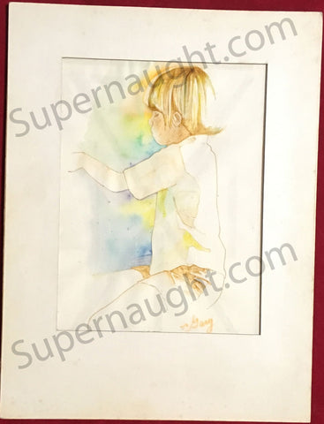 Gary Gilmore 1972 Watercolor Painting Signed Fingerprints