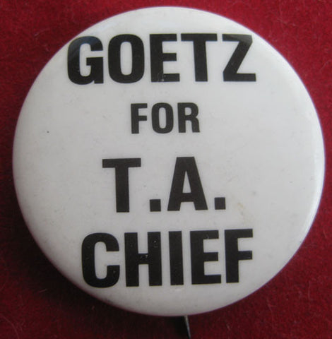 Bernhard Goetz for TA Chief Vigilante Pin - Supernaught True Crime Collectibles
