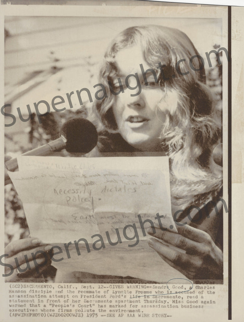 Sandra Good Manson Family September 15 1975 Press Photo