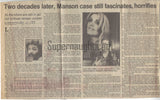 Sandra Good Collins Signed Envelope With Manson Newspaper Article