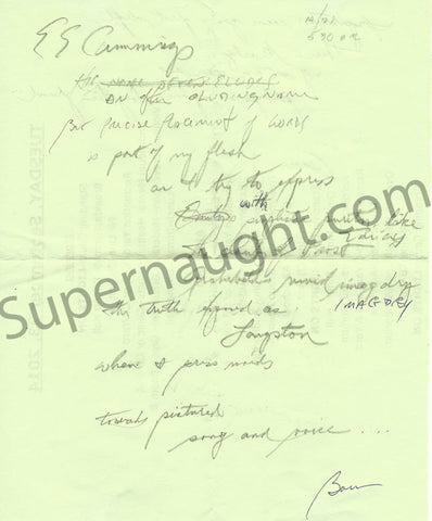 Kermit Gosnell MD note from prison signed twice - Supernaught True Crime Collectibles - 1
