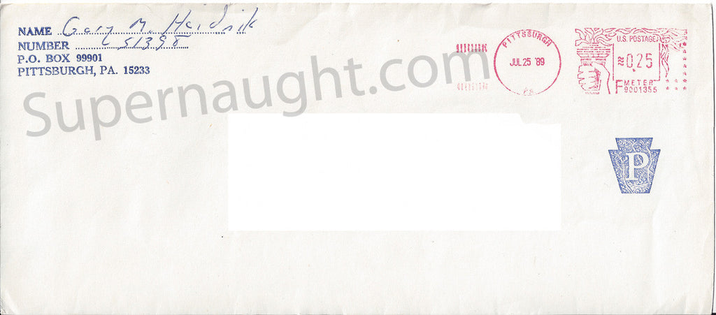 Gary Heidnik prison envelope signed Gary M Heidnik - Supernaught True Crime Collectibles