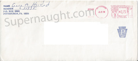 Gary Heidnik prison envelope signed death row