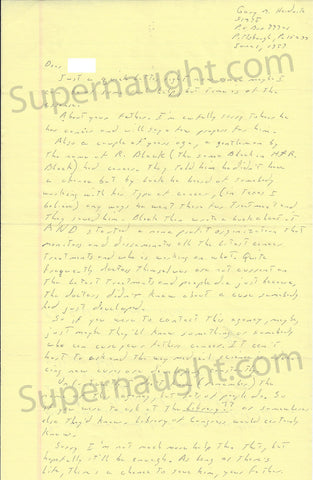 Gary Heidnik letter and prison envelope both set signed