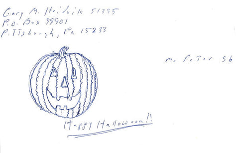 Gary Heidnik signed halloween drawing