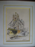 William Heirens Tower Bridge London painting signed - Supernaught True Crime Collectibles - 3