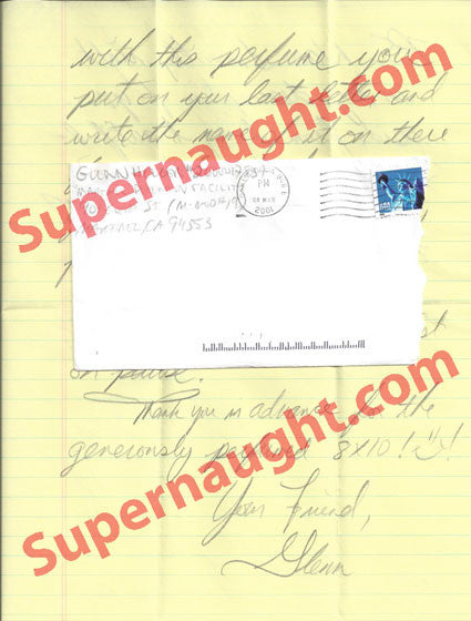 Glenn Helzer letter and county jail envelope both signed - Supernaught True Crime Collectibles